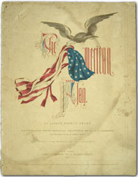 cover of sheet music, The American Flag
