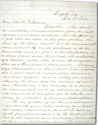 front of 1862 Civil War letter