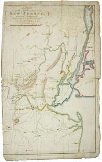1806 Map, A Plan of the Southern Part of New Jersey